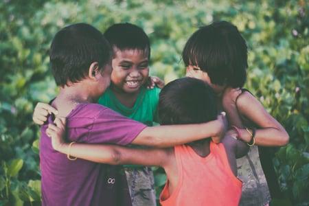 kids children friends holidays